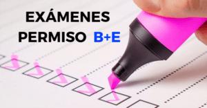 test permiso o carnet de remolque B+E