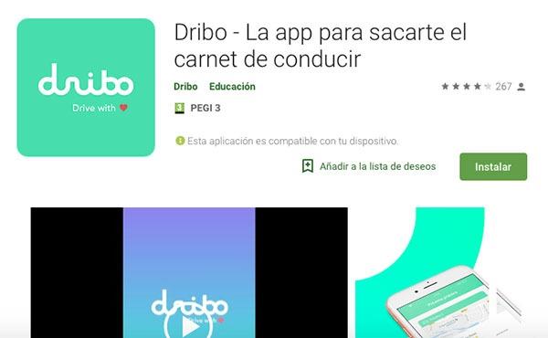 aplicación de dribo para dispositivos Android