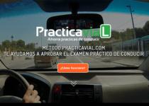 Página web de PracticaVial para aprobar el examen práctico del coche